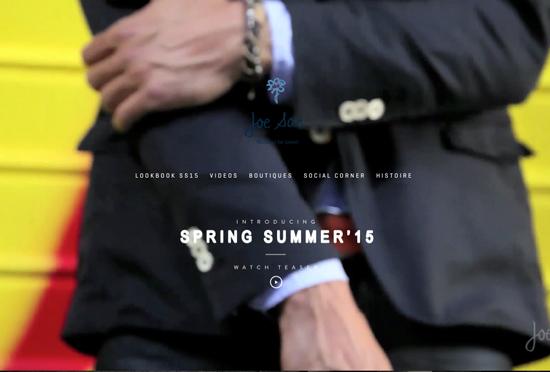 背景に動画を使ってオシャレにキメてる海外のウェブサイト